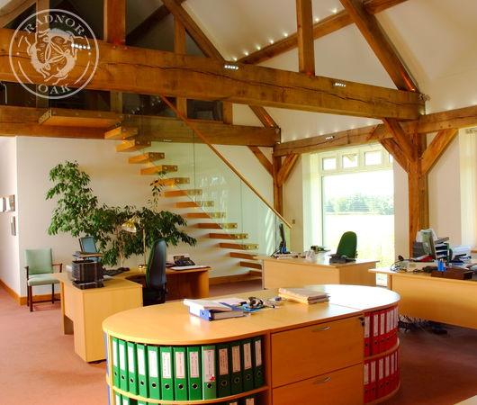 Radnor Oak manufacture beautiful oak framed commercial offices.