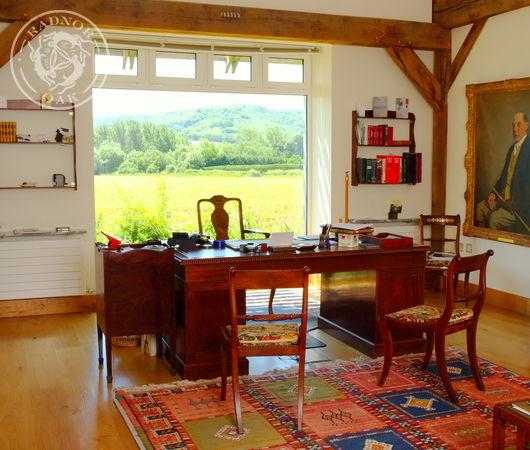 Luxurious directors office in a Radnor Oak building.