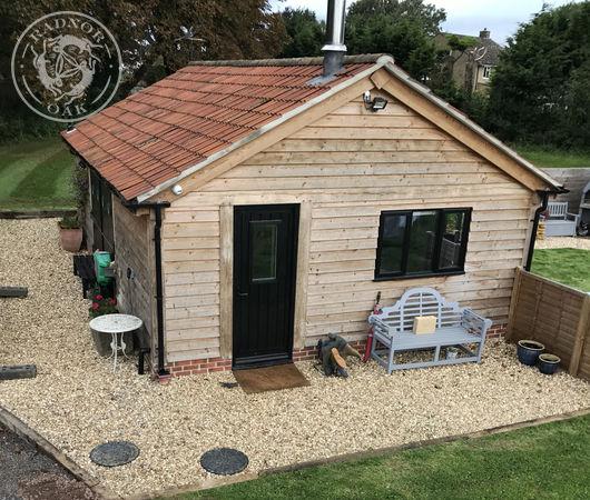 Oak framed holiday cottage manufactured by Radnor Oak