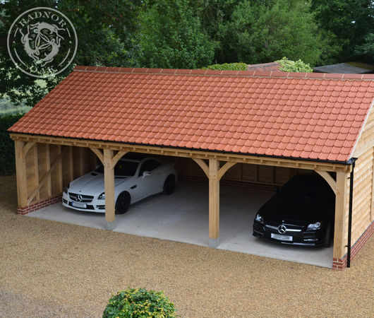 Three bay carports and garages from Radnor Oak