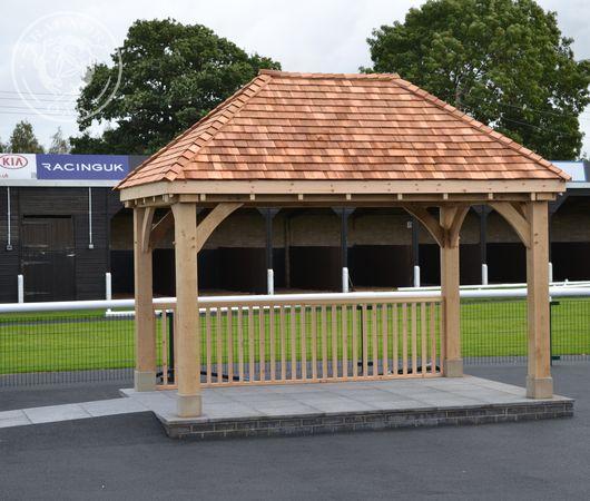 A Radnor Oak gazebo used as a presentation building and winners podium.