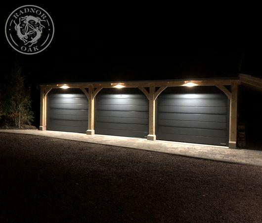 3 Bay Byton Low Ridge | Carport and Outdoor Storage | Radnor Oak