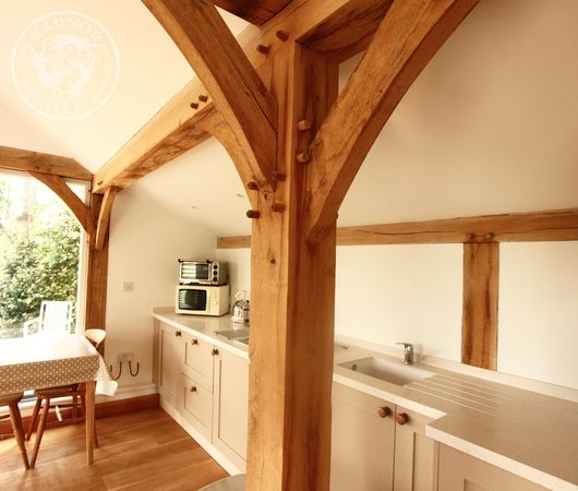 Oak Annexe | Elderly Accommodation | Granny Annexe | Interior | Kitchenette | Radnor Oak