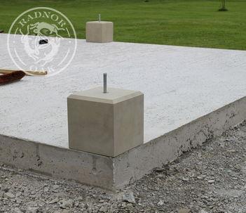 Staddle stone for Oak Garden Gazebo