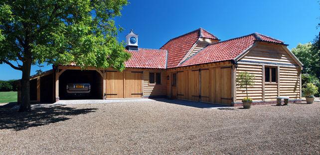 multi-purpose oak framed building complex