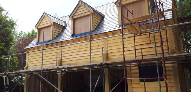 Oak Framed Outbuilding in Cheshire