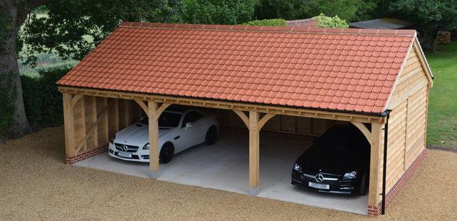 Oak framed carport Norfolk