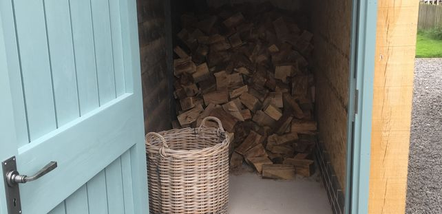 large firewood store