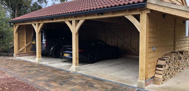 oak framed carport