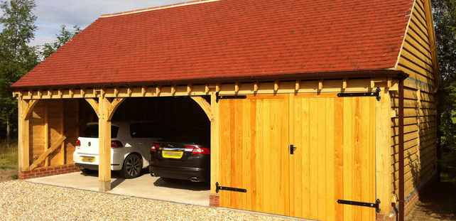 Oak Garage Constructed in Cheshire