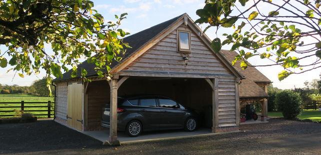 carport, music room, annexe, log store