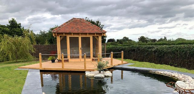 oak building and decking