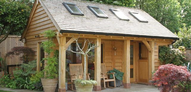 oak framed home office