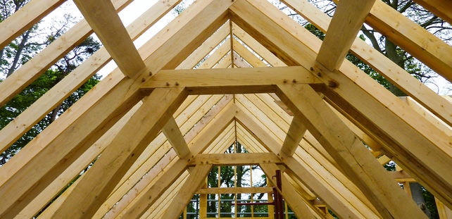 the sturdy oak frame that has become Radnor oak's trademark and sign of quality