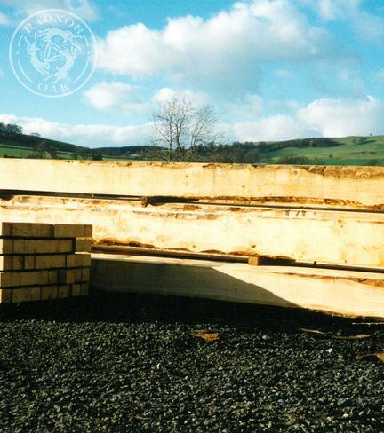 milled oak beams