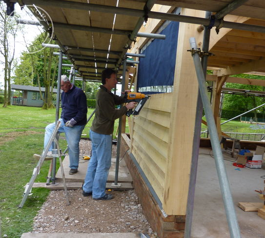Weatherboarding going on