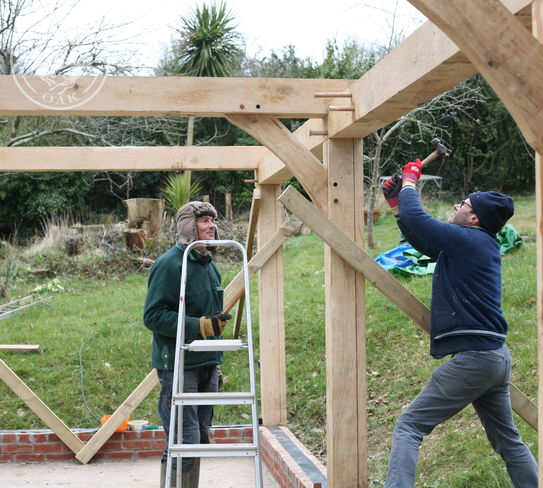 Oak frame carport