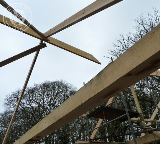 oak frame skeleton timber building garage outbuilding