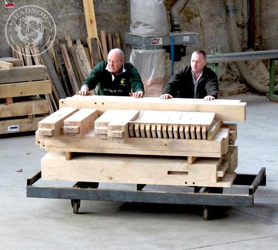 The team in the oak framing workshop