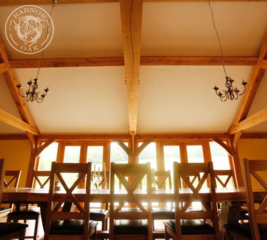 oak framed social room entertaining area