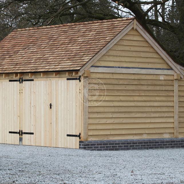 Kinsham | 2 Bay | KI2004 | Oak Framed Garage | Radnor Oak