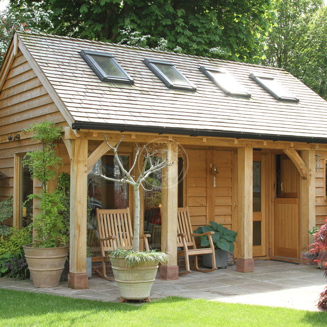 Summer House & Garden Office | SH006 | Radnor Oak | Home Studio