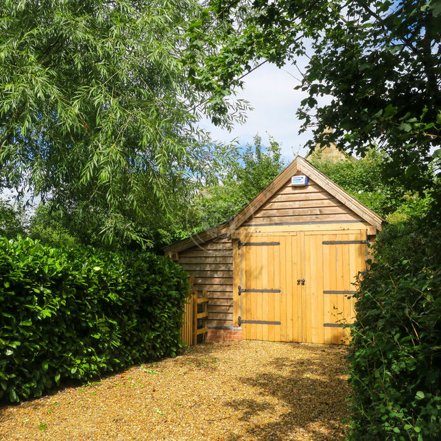 Single bay Oak Framed Garage | The Stapleton | S001 | Radnor Oak | Garden Office | Potting Shed and Garden Store