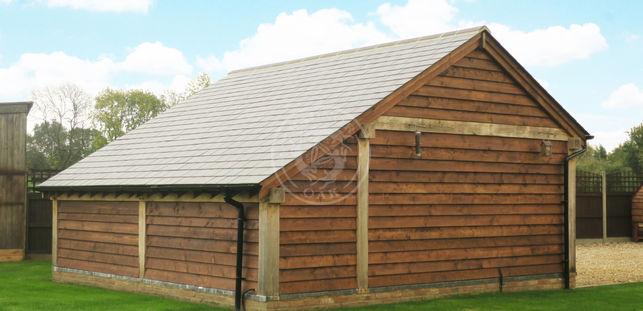 2 Bay Timber Framed Garage   Lucton   Radnor Oak