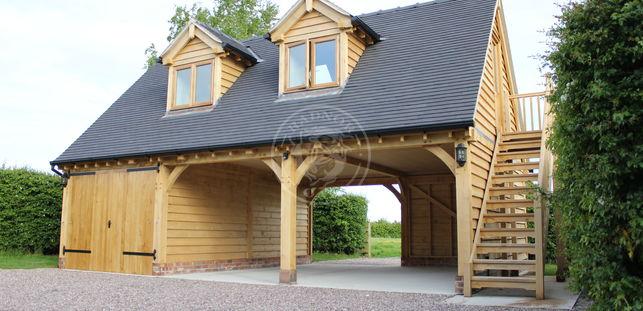 3 Bay Garage with Room Above | 2 Dormer Windows | Radnor Oak