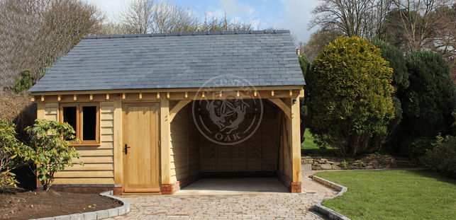 Walton 2 Bay | Oak framed garage & Workshop | Radnor Oak | Outdoor Storage