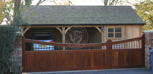 3 Bay Oak Framed Garage | Traditional Garden Workshop and Car Storage | Radnor Oak