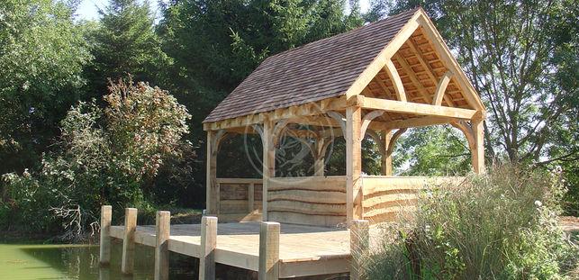 A Medium Sized Oak Framed Boat House   Medium Pavilion   Radnor Oak