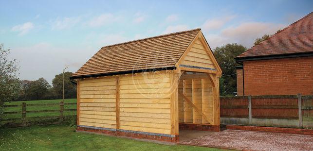 Single Bay Oak Framed Garage | Stapleton | Radnor Oak