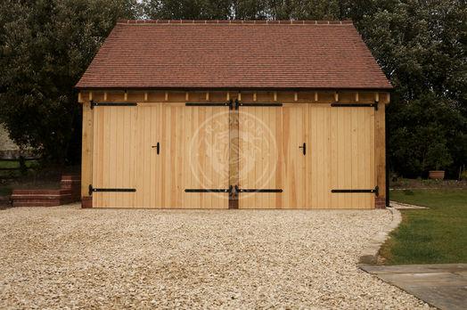 Byton High Ridge | 2 Bay | Oak Doors Double Doors | Radnor Oak