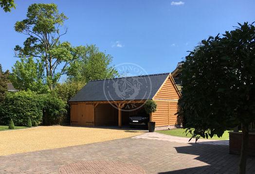 Three bay garage | One Bay Enclosed with Double Doors | Carport | Radnor Oak Buildings