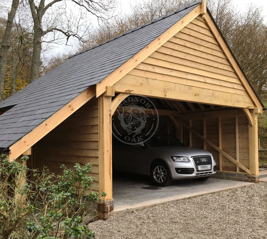 Bespoke Byton High Ridge | Carport | Log Store | Radnor Oak