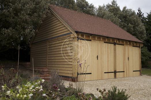 Byton High Ridge | 2 Bay | Carport | Oak Double Doors | Radnor Oak