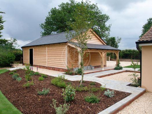 Byton Low Ridge | 3 Bay | Side Log Store | Radnor Oak