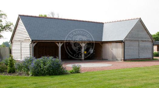 Oak Framed L Shaped Garage | Radnor Oak