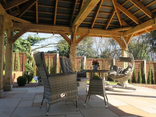 Bespoke Oak Framed Gazebo   Garden Retreat   Radnor Oak