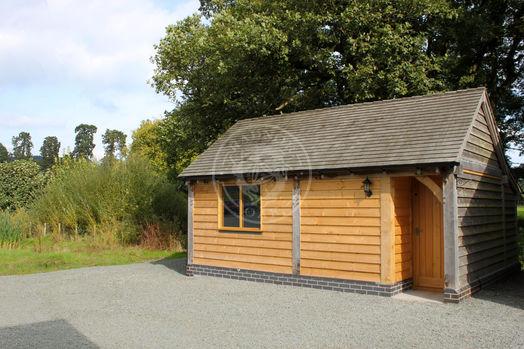 Kinsham 2 Bay   Oak Framed Workshop   Radnor Oak