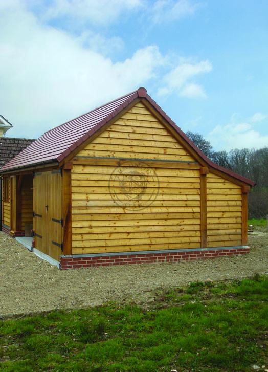 Kinsham 3 Bay   Bespoke Garage and Garden store   Radnor Oak