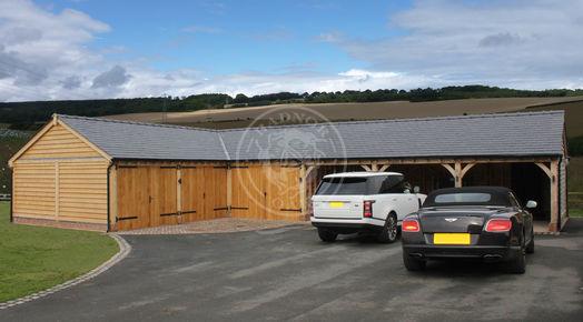 L Shaped Byton Low Ridge | Bespoke Oak Buildings | Radnor Oak