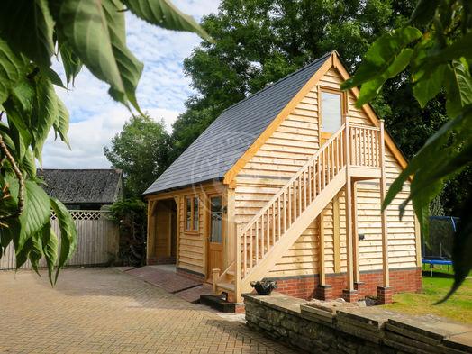 2 Bay Oak Framed Garage   Norton   Radnor Oak   Garages & Outbuildings   Carport   Garden Office   Home Studio