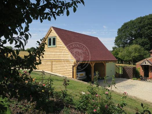 3 Bay Norton   Oak Framed Garages   Radnor Oak   Hobby Room & Garden Office   Home Studio