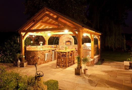 Large Oak framed Pavilion | PL001 | Radnor Oak Buildings | Outdoor Entertaining