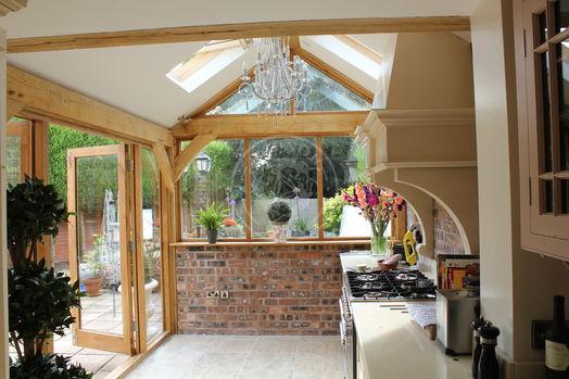 Summer House   Internal   French Doors   Full Height Windows   Radnor Oak   Summer Room