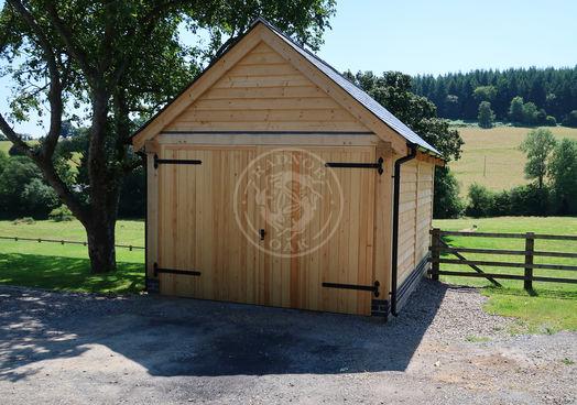 Single Bay Oak Garage   Traditional Oak Garage   Radnor Oak   Garden & Outdoor Storage