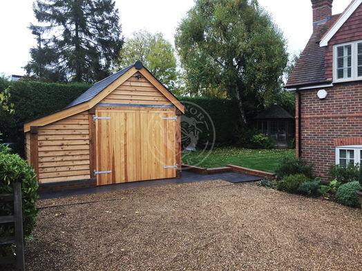 Single Bay Oak Garage   Log Store   Traditional Oak Garage   Radnor Oak   Garden Storage & Workshop