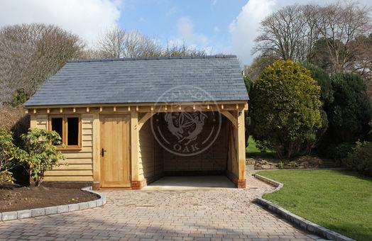 Walton 2 Bay | Oak framed garage & Workshop | Radnor Oak | Outdoor Storage